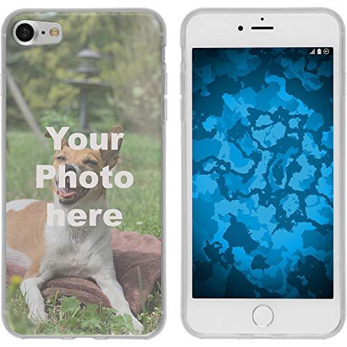 PhoneNatic Case kompatibel mit iPhone 7/8 Personalisierte Handyhülle Clear zum selbst gestalten mit eigenem Foto