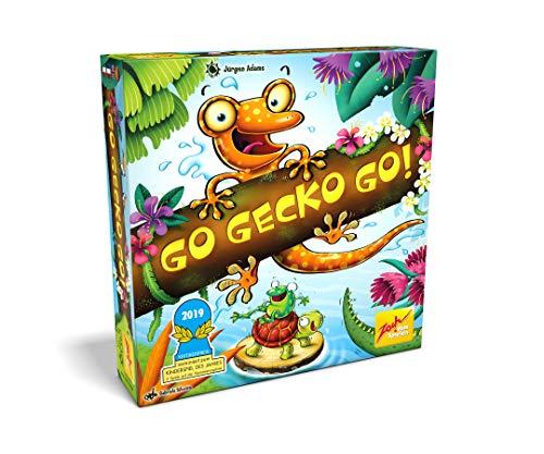 Zoch 601105129 Gecko Go, Nominiert zum Kinderspiel 2019, Gemeinschaftsspiel für die ganze Familie, für 2-4 Spieler und Kinder ab 6 Jahren