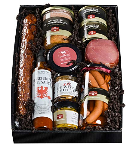 Geschenk Heimatgrüße aus Hessen - kulinarische Geschenkidee für Freunde, Nachbarn, Mitarbeiter oder Geschäftsfreunde - herzhafte & hausgemachte Köstlichkeiten