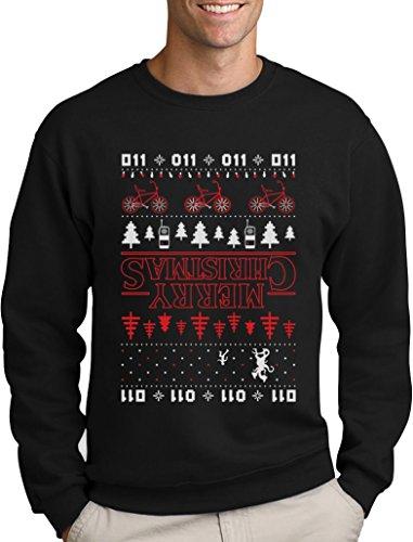 Green Turtle T-Shirts The Upside Down Hässlicher Weihnachtspullover Für Serien Fans Sweatshirt Medium Schwarz