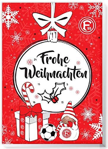 Adventskalender mit Milchschokolade FORTUNA DÜSSELDORF (120 Gramm) Limited Fan Edition