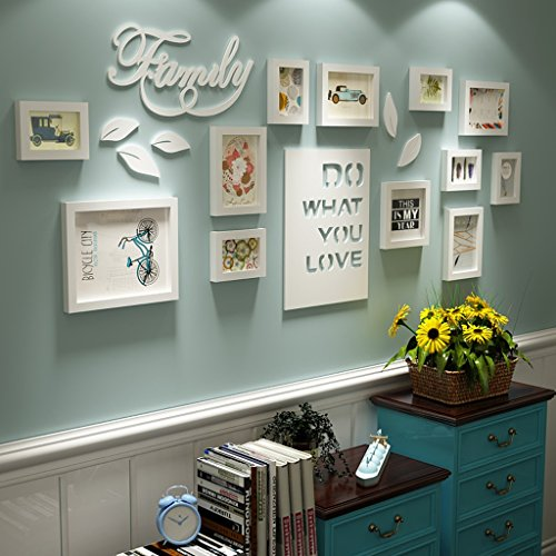 Bilderrahmen Collage Brief pastoralen schlafzimmer wohnzimmer massivholz kreative kreative foto wand ornament rahmen wand Fotorahmenwand ( Farbe : All white )