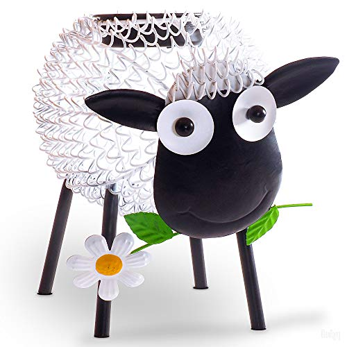 Gadgy Solarlampen für außen   Schaf gartendeko solar mit Schatteneffekt   Metall gartenfiguren