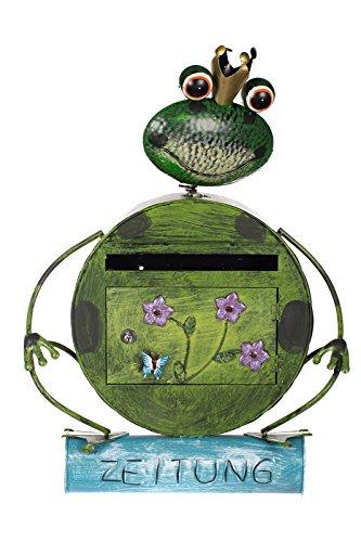 Sarah B Antiker Briefkasten, Tierdesign Frosch, NA13A332 Handbemalt.