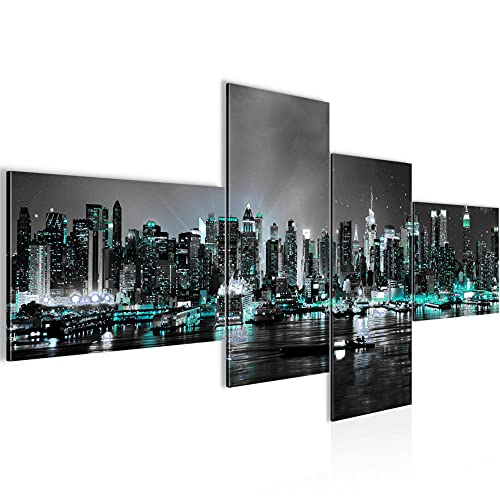 Bild XXL New York City 200 x 100 cm Kunstdruck Vlies Leinwandbild Wanddekoration Wohnzimmer Schlafzimmer 605441b