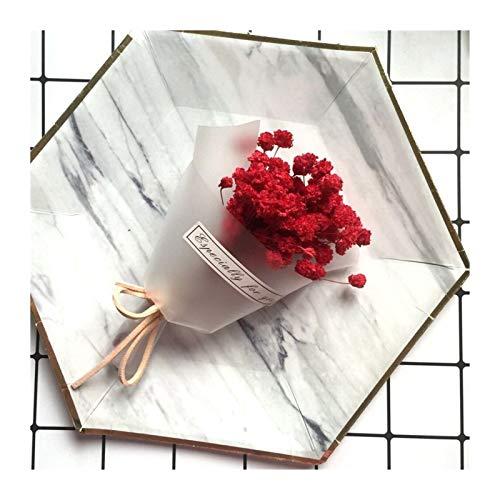 THQC 1Pcs / Lot Gypsophila natürliche getrocknete Blumen for Hochzeit Hauptdekoration DIY Fertigkeit Geschenke Verpackung Himmel Sterne-Blumen-Foto-Dekor (Farbe : RedGypsophila)