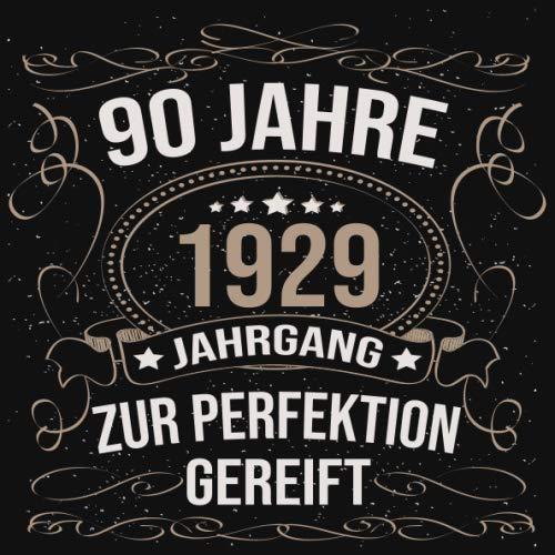 90 Jahre Jahrgang 1929 zur Perfektion gereift: Cooles Geschenk zum 90. Geburtstag Geburtstagsparty Gästebuch Eintragen von Wünschen und Sprüchen lustig 120 Seiten / Design: Luftschlangen Schwarz Gold
