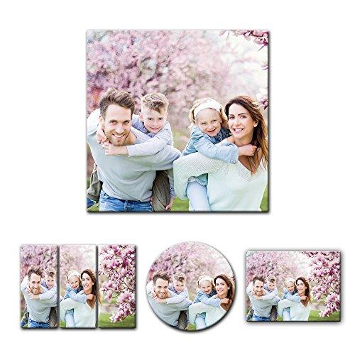 Leinwandbild - mit Ihrem Wunschmotiv - Quadrat-Format - 30x30 cm - Mein Foto auf Leinwand - SOFORT VORSCHAU - Eigenes Bild - Dein Wunschmotiv aufgespannt auf Bilderrahmen
