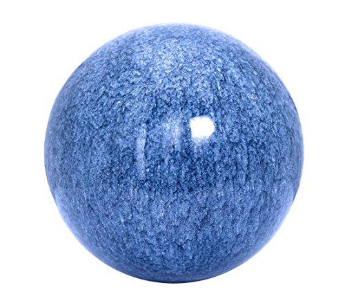 Dehner Edelstahlkugel in Mamor-Optik, Ø 20 cm, blau