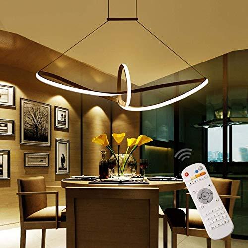 TINS 48W LED Pendelleuchte Esstisch Hängelampe Pendellampe Kronleuchter Wohnzimmer Küche Pendel Moderne Aluminiu Hängeleuchte Pendellänge maximum 120 cm und höhenverstellbar Acryl (Dimmbar)