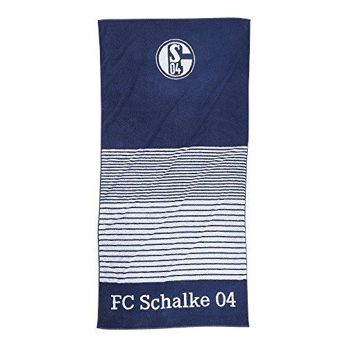 FC Schalke 22614 Handtuch Streifen marine 50/100. Ein Handtuch für alle Fans. Maße: 50 x 100 cmMaterial: 100% Baumwolle