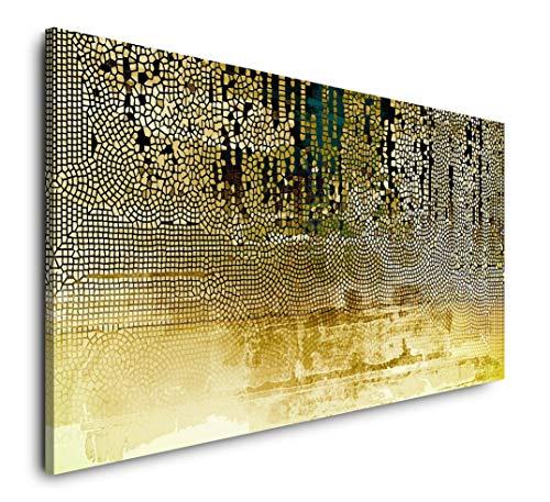 Paul Sinus Art Abstraktes Bild 120x 60cm Panorama Leinwand Bild XXL Format Wandbilder Wohnzimmer Wohnung Deko Kunstdrucke