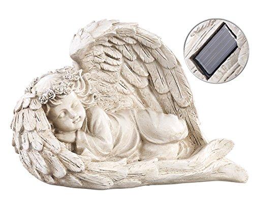 Lunartec LED Engel: Schlafende Solar-LED-Schutzengel-Figur, 16 cm, für innen & außen (LED Solar Engel)