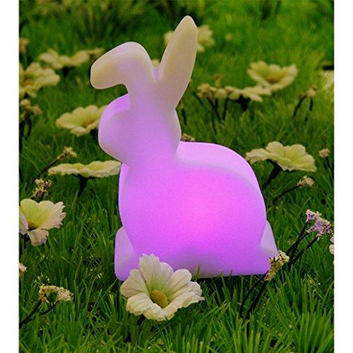 Hasen LED Leuchte mit wechselndem Licht weiß, aus Kunststoff, in Geschenkkarton.
