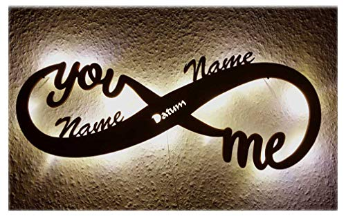 Led Unendlichkeitszeichen mit Namen Liebe Liebesbeweise zur Hochzeit Verlobung Jahrestag Hochzeitsgeschenke Wohnzimmer Schlafzimmer Freundin Partner Geschenk