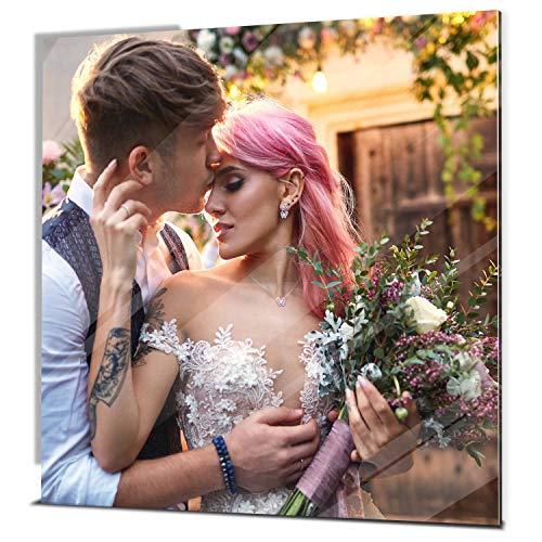 wandmotiv24 Ihr Foto auf Acrylglas - 1-teilig - Quadratisch 20x20cm (BxH), SOFORT ONLINE VORSCHAU, personalisiertes Glasbild mit Wunsch-Motiv, eigenes Bild als Wandbild, Fotogeschenke, Geschenke,