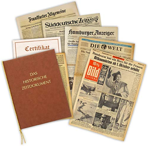 Geschenkidee zum 80. Geburtstag: Zeitung vom Tag der Geburt - historische Zeitung inkl. Mappe & Zertifikat