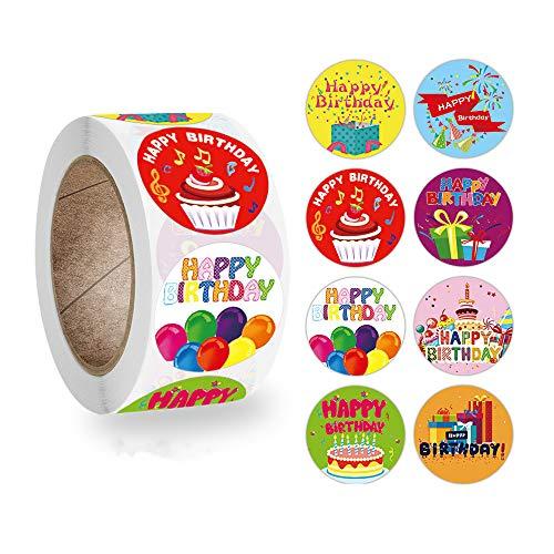 Geburtstags Aufkleber für Kinder Aufkleber Geburtstag Runde Papieretiketten für Weihnachten Geburtstagsfeier Dekoration