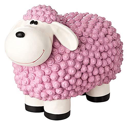 incubado Mini Schaf Molly Deko-Figur Gartenfigur, Gartendekoration für den Garten Außen-Bereich, klein (Pastell pink)