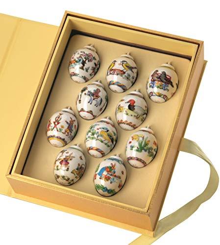 Hutschenreuther Setzkasten mit 10 Mini-Eier, Bunt, 3.4 cm