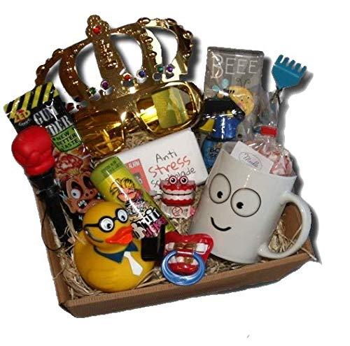 Lustiges Geschenke Präsentkorb Abschied Kollege | witziges Abschiedsgeschenk Büro