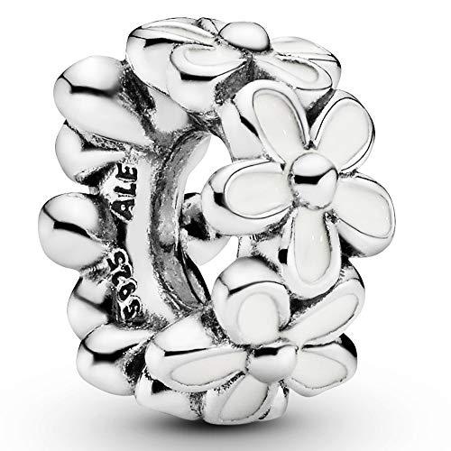 Pandora Moments Weiße Gänseblümchen Zwischenelement Sterling Silber, Emaille 791495EN12