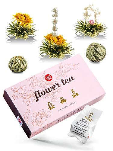 Teeblumen Geschenkset - Tee Geschenk in schöner Präsentationsbox - ein edles Geschenk für Frauen - jede Teeblume ein traumhaftes Erlebnis - Flower Tea 108