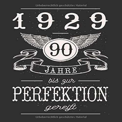 90 Jahre Jahrgang 1929 zur Perfektion gereift: Geschenk zum 90. Geburtstag Geschenk Geburtstagsparty Gästebuch Eintragen von Wünschen / Design: Engel Flügel Banner Retro Vintage