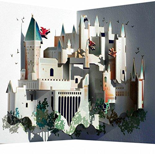 Forever Handmade Pop Up Karte Hogwarts, das berühmte Harry-Potter-Schloß - mit verblüffender Wirkung beim Öffnen. Designed und produziert in Wales. GP090