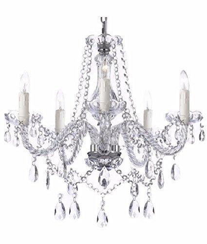 Saint Mossi® Modern Deckenleuchte Kronleuchter Elegantes Echt Kristall Lüster 5 * E14 Base Bulbs Erforderlich Wohnzimmerlampe