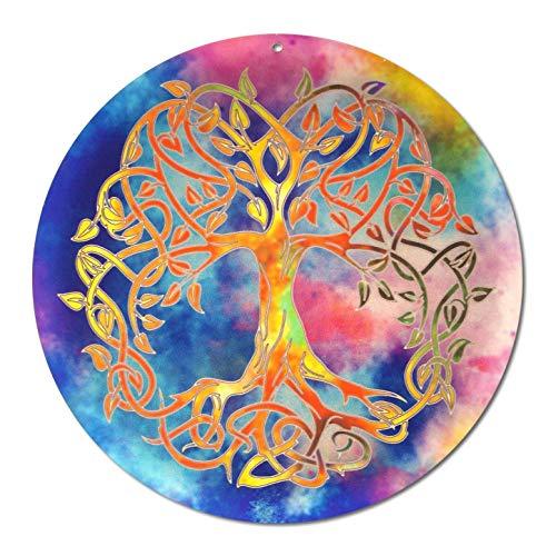 Sonnenfänger'Baum des Lebens' Nr 20 Ø 20cm Geburtstagsgeschenk · Danke Geschenk · tolle Geschenkidee · Symbol der Liebe · Glücksbringer Lebensbaum · Fensterschmuck Deko Acryl-Glasbild Suncatcher
