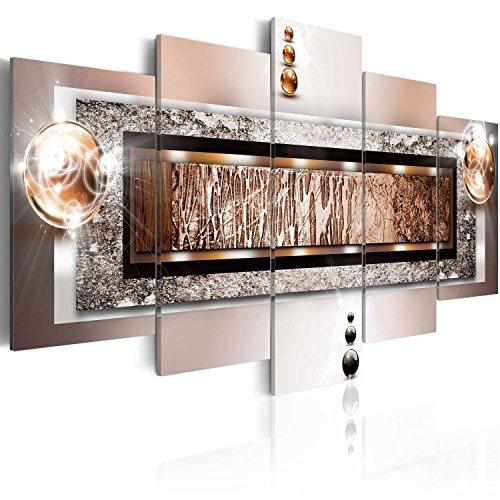 murando - Bilder Abstrakt 200x100 cm Vlies Leinwandbild 5 TLG Kunstdruck modern Wandbilder XXL Wanddekoration Design Wand Bild - Textur Perlen Struktur Gold 020101-216