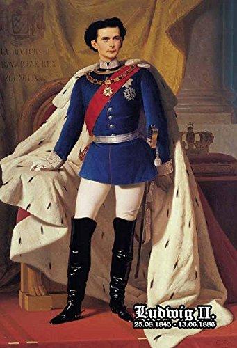 Schatzmix Ludwig II König von Bayern 1845-1886 Portrait im Stehen Metal Sign deko Sign Garten Blech