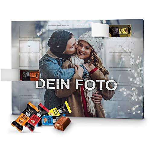 PhotoFancy – Foto Adventskalender mit hochwertiger Lindt HELLO-Schokolade in 4 Sorten – mit eigenem Bild bedruckt
