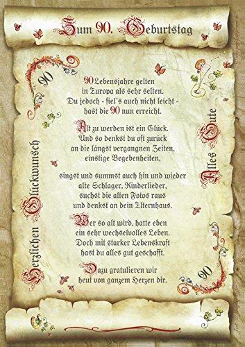 Geschenk 90. Geburtstag Gedicht Präsent Jubiläum