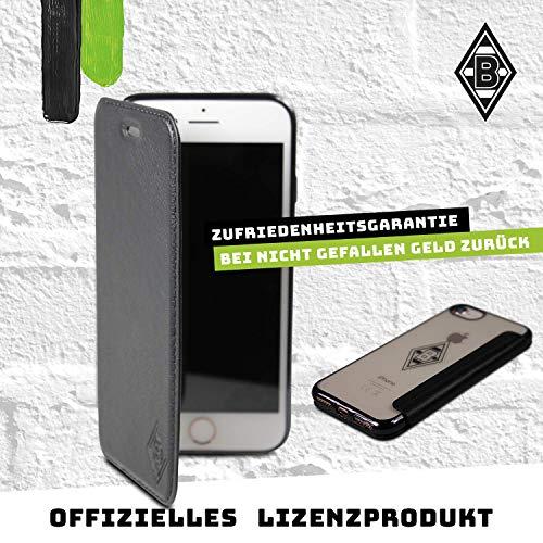 Borussia Mönchengladbach Book Case - Mittelstürmer - Schutzhülle passend für das iPhone 8, iPhone 7 und iPhone 6 Black
