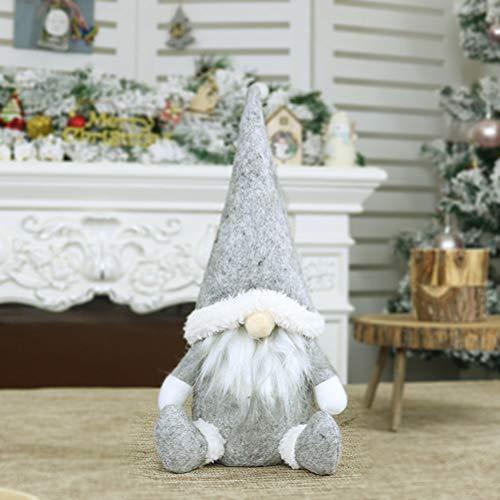 NOENNULL Gesichtslose Weihnachtsdekoration, Weihnachten Deko Figur Wichtelfiguren Sitzende Weihnachtsmann Thema stehende Weihnachtswichtel Dekofigur Wintermütze Schal