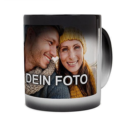 PhotoFancy® - Zaubertasse mit Foto Bedrucken Lassen - Magic Mug Personalisieren – Fototasse Zauberbecher selbst gestalten