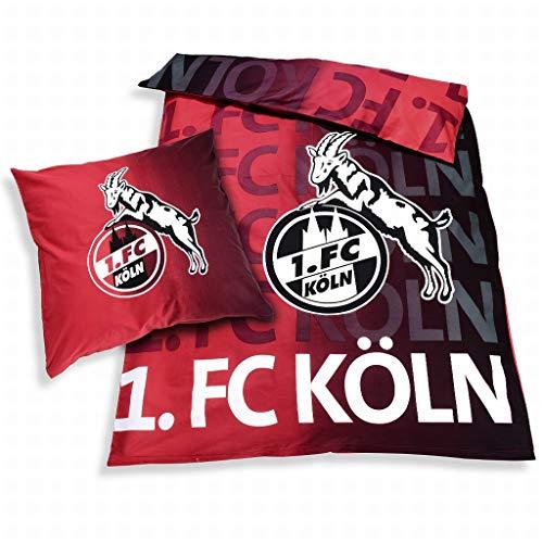 1. FC Köln Fanartikel. Waschbar, mit Reißverschluss und der weiße Druck leuchtet im Dunkeln.