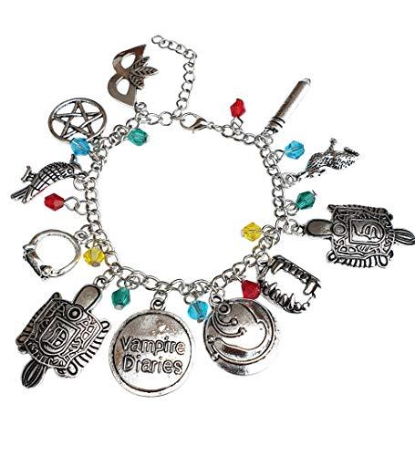 Orion Creations Vampire Diaries inspiriert Charm Armband mit Kristallperlen