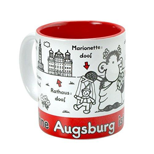 Sheepworld 61042 'Ohne Augsburg ist alles doof', Steingut, 30 cl Tasse, Mehrfarbig, 8 cm