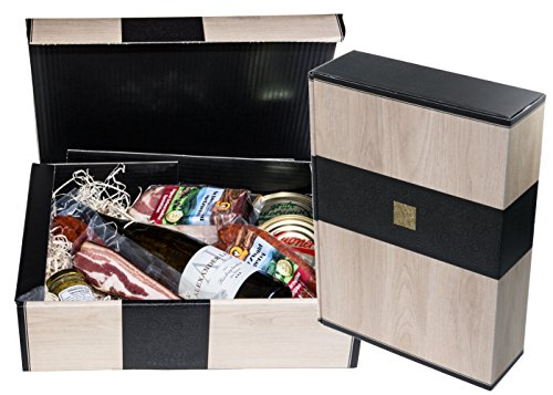 Schwarzwald Metzgerei - Geschenkset 'Vesper' mit verschiedenen Wurtsspezialitäten, einem Gourmet-Senf und hervorragenden Weißwein - 8-teilig