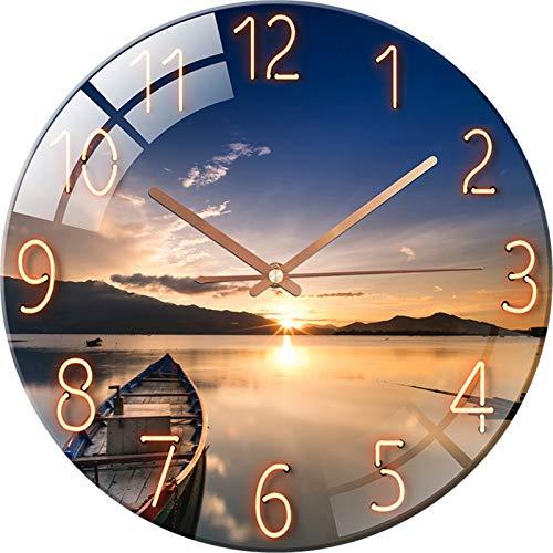 SWECOMZE Wandnuhr mit Geräuscharmes,12 Zoll 30cm Wand Uhr,Wanduhr Lautlos, Galaxie Sternenhimmel Wall Clock Home Decor für Wohnzimmer Kinderzimmer (Stil C)