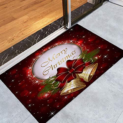 Weihnachten Home Rutschfeste Tür Fußmatten Hall Teppiche Küche Decor Badematte Badteppiche Rutschfester Badvorleger Rutschfest Matte Fußmatte Fußabtreter Fussmatte Schmutzfangmatte Weihnachtsdeko