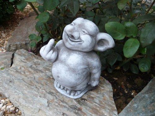 Steinfigur Troll Gnom Gartenfiguren für Garten Deko Teich FantasiefigurSteinfigur Troll Gnom Gartenfiguren für Garten Deko Teich Fantasiefigur Steinfiguren