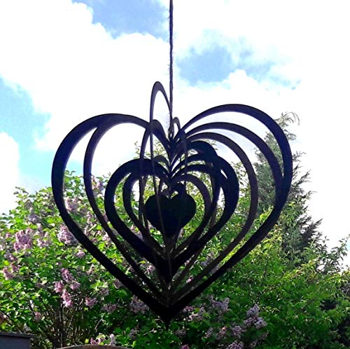 Smuk Windspiel Herz Edelrost Metall rostig