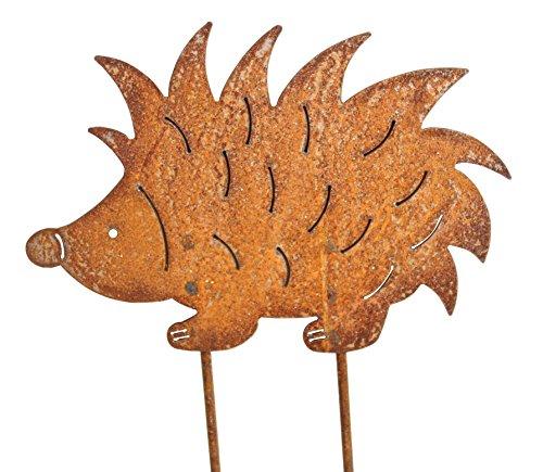 Gartenstecker Igel 25cm x 18cm Metall Rost Gartendeko Edelrost rostige Deko Figur