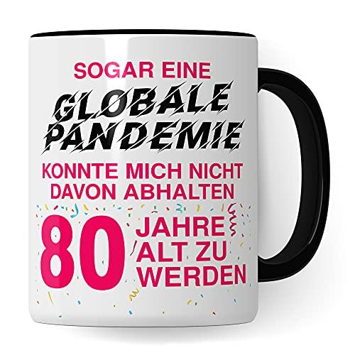 80. Geburtstag Frauen Tasse, Geschenk 80 Geburtstag Frau, Becher 80 Jahre alt werden Spruch Kaffeebecher Geschenkidee, Kaffeetasse 1941 Jahrgang Oma Großmutter Geburtstagsgeschenk 2021