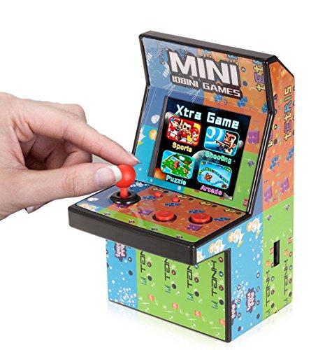 Brigamo  80er Retro Mini Arcade Spielautomat mit 2.8' LCD Farb Display, eingebautem Lautsprecher und 108 Videospiele