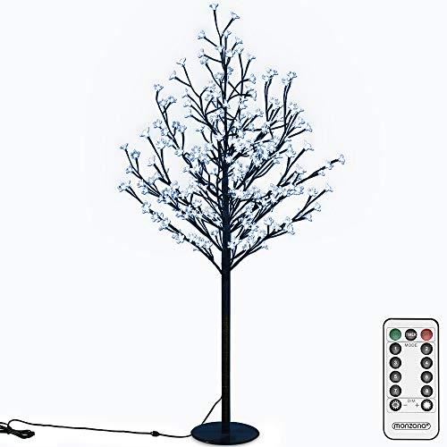 Deuba Kirschblütenbaum 200 LED   180cm I Fernbedienung I Timer I 8 Leuchtmodi I Lichterbaum Indoor Outdoor   Blau